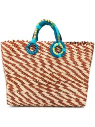 Nannacay Contrast Handle Basket Brown