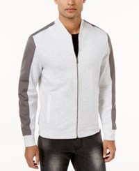 Inc International Concepts Men's Colorblocked Knit Jacket Only At Macy's Whispy Grey
