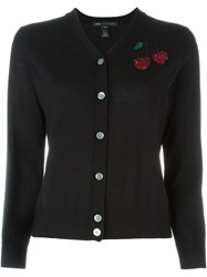 Marc By Marc Jacobs Sequinned Cherry Cardigan Black