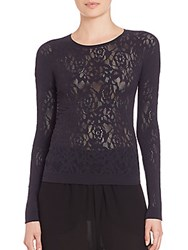 Mcq By Alexander Mcqueen Mesh Lace Top Black