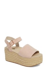 Kenneth Cole New York Indra Espadrille Platform Sandal Rose Suede
