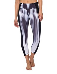 Betsey Johnson Printed Cropped Bodycon Fit Leggings Black White