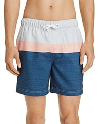 Penguin Color Block Stripe Swim Trunks Ballad Blue