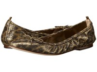Sarah Jessica Parker Gelsey Flat Stunned Printed Leopard Suede Women's Flat Shoes Gold