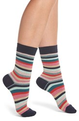 Paul Smith Clarissa Swirl Artist Stripe Crew Socks Multi