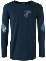 Stone Island Shadow Project Chest Pocket Longsleeved T Shirt Blue