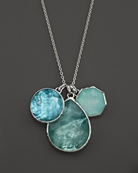 Ippolita Sterling Silver Wonderland 3 Stone Pendant Necklace In Tahiti 32
