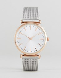 New Look Mesh Strap Watch Pink
