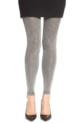 Via Spiga 'Stardust' Knit Footless Tights Sterling