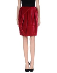Aquilano Rimondi Knee Length Skirts Garnet