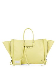 Balenciaga Leather Papier A4 Zip Tote Canary Yellow