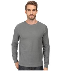 Threads For Thought Rocco Crew Double Face Thermal Heather Grey Men's Clothing Gray