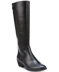 Dr. Scholl's Brilliance Wide Calf Tall Boots Women's Shoes Black
