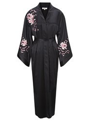 Alice By Temperley Somerset By Alice Temperley Embroidered Orchid Kimono Silk Robe Multi