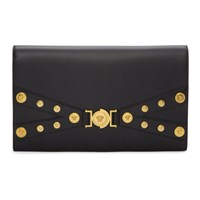 Versace Black Tribute Hardware Day Clutch