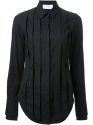 Strateas Carlucci Pleated Front Shirt Black