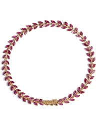 Annoushka Ruby Vine 18Ct Gold And Ruby Bracelet