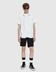 Obey Dorian Woven Shirt In White Multi