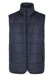 Oscar Jacobson Tiago Navy Quilted Shell Gilet