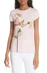 Ted Baker London Ameliza Harmony Fitted Tee Pale Pink