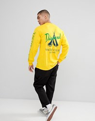 Diamond Supply Co. Voyage Long Sleeve T Shirt In Yellow