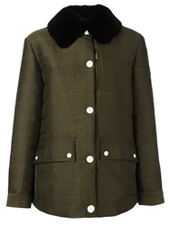 Moncler Gamme Rouge 'Edelweiss' Coat Green