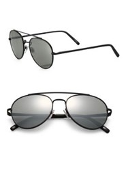 Montblanc 56Mm Aviator Sunglasses Silver