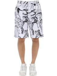 Stella Mccartney All Over Print Timothy Cotton Shorts White