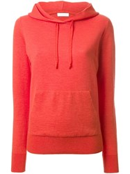 Rito Drawstring Front Pocket Hoodie Yellow And Orange