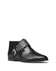 Michael Michael Kors Brody Vachetta Leather Flat Booties Black
