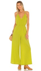 Cleobella Melody Jumpsuit In Green. Citron