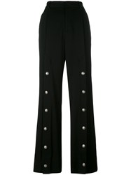 Y Project Studded Detail Tailored Trousers Women Spandex Elastane Wool Xs Black