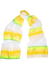 Lemlem Bezbez Striped Cotton Blend Scarf