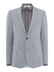 Simon Carter Sb2 Puppytooth Slim Fit Jacket Blue