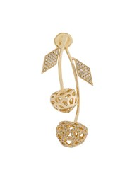 Natasha Zinko 14Kt Yellow Gold And Diamond Double Cherry Mini Earring