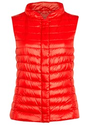 Herno Red Quilted Shell Gilet