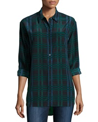 Equipment Daddy Long Sleeve Plaid Blouse Ink Multi