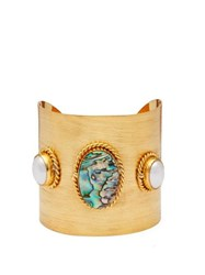 Sylvia Toledano Ammonite And Pearl Embellished Cuff Blue