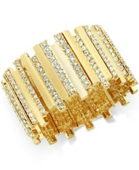 Thalia Sodi Pave Crystal Bar Stretch Bracelet Only At Macy's Gold