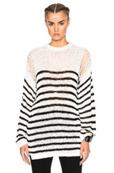 Iro Lolita Sweater In White Stripes White Stripes