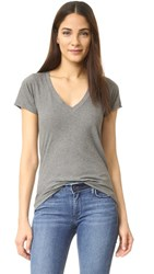 Lna Deep V Tee Heather Grey