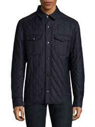 Luciano Barbera Cotton Quilted Jacket Blue
