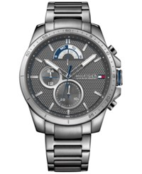 Tommy Hilfiger Men's Cool Sport Gray Ion Plated Stainless Steel Bracelet Watch 40Mm 1791347 Grey