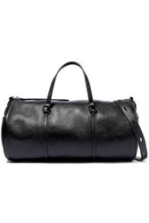 Kara Pebbled Leather Shoulder Bag Black