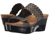 Naot Footwear Rise Vintage Gray Leather Black Crackle Leather Women's Sandals