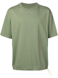 Unravel Project Oversized Crew Neck T Shirt Green