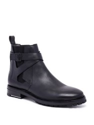Lanvin Chelsea Leather Boots Black