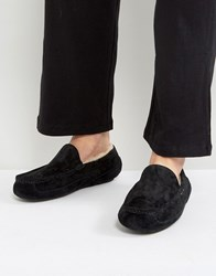 Ugg Ascot Suede Water Resistant Slippers Black