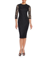 Jessica Simpson Floral Lace Midi Dress Black