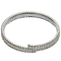 John Lewis Faux Pearl And Cubic Zirconia Stretch Bracelet Silver